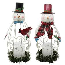 Indoor Snowman Lights Juegoal 2 Pack Snowman Led Candle Lantern Metal Christmas