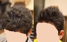 男性縮毛矯正 竹蔵 たけぞう 部活を引退して坊主にしてたのを伸ばし