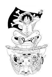 40+ Tranh tô màu One Piece ngầu nhất cho bé tập tô