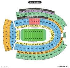 Ohio State Buckeyes Stadium Seating Chart Reasonable Ohio Stadium Seating Chart The Horseshoe Stadium