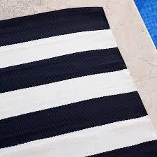 indoor outdoor harbour stripe navy rug runners