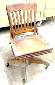 Wood Desk Chairs Antique Wooden Office Chair Trend  For Sale S32