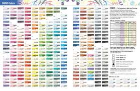 copic ciao color chart copic markers