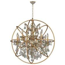armillary 13 light gold crystal chandelier