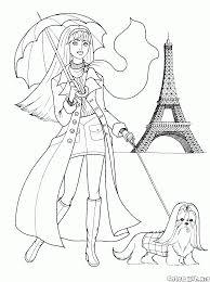 Disegni Da Colorare Ragazza A Parigi