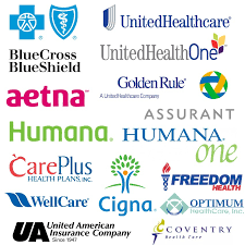 most health insurance plans accepted