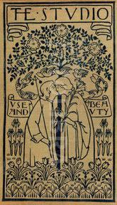 rare voysey art nouveau garden bookcover