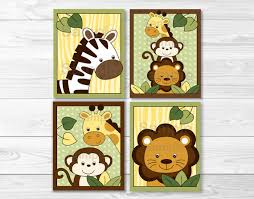 add the perfect finishing touch to your child s nursery bedroom or play room with our adorable wall art our original professionally designed wall art  on jungle animal wall art with safari jungle animal nursery wall art printable ebay