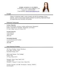 Unusual Formal Resume 1 Advanced Resume Templates - Resume Example
