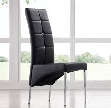 gorgeous black leather chairs dining vesta studded faux leather dining room chair in black 21166
