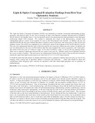 Light And Optics In Class Review 1 Answers Pdf Light And Optics Conceptual Evaluation Findings From