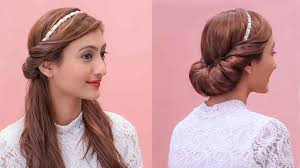 Easy Hair Style For Girl hairstyles using a hairband grecian updos youtube 4844 by wearticles.com