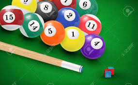 pool table balls clipart. Modren Pool Billiard Balls In A Pool Table Stock Vector  49454888 And Pool Table Balls Clipart D