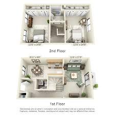 2 bedroom townhouse show fullsize floor plan