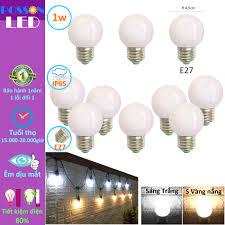 10 Bóng đèn Led 1w bup tròn G45 bulb đuôi E27 tiết kiệm điện kín chống nước  trang trí ngoài trời LL-1x - Bóng đèn