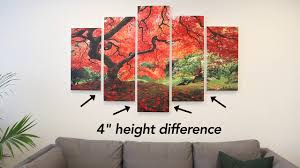How to Hang Our <b>5 Panel</b> High Def <b>Canvas</b> - YouTube