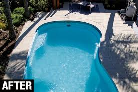 how to lay pool pavers after