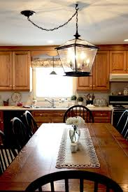 farmhouse lighting in the kitchen