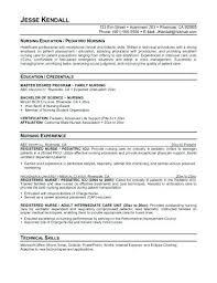 Pediatric Nurse Cover Letter New Sample Resume Nurse Practitioner Sample Resume For Pediatric Nurse