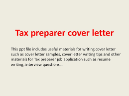 Tax Return Cover Letters Tax Preparer Cover Letter