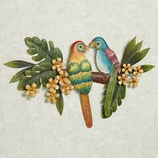 paradise perch tropical bird metal wall art pertaining to most recently released birds on a branch on love birds metal wall art with gallery of birds on a branch metal wall art view 7 of 20 photos