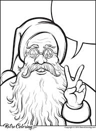 Small Picture Christmas coloring page with hippie Santa Claus RetroColoring