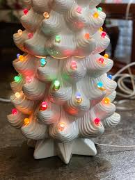 Atlantic Mold Ceramic Christmas Tree Lights Modern Ceramic White Christmas Tree Lamp Atlantic Mold