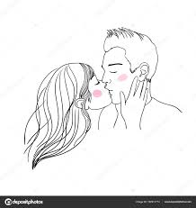 Romantic Kiss Loving Couple Stock Vector Natashachetkova