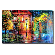 hand painted house light scenery oil painting beautiful oil paintings on canvas for living room decor