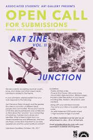 open call art zine vol ii junction the art gallery open call junction v2