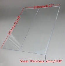 Plastic Stands For Display 100X100Mm T100Mm A100 Plastic Acrylic Sign Display Paper Promotion 50