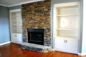 stone veneer fireplace surround amazing stacked ideas cost