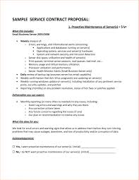 Sample Service Contract Proposal Cover Letter Samples Cover