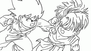 Impressive Dragon Ball Z Coloringages Online Free Goku Super