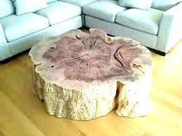 tree trunk coffee table tree trunk table base stump coffee tables natural side round glass with