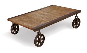 popular rustic coffee table with wheels