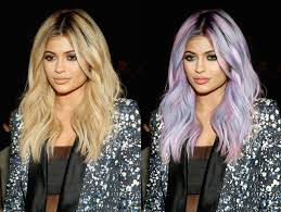 Kylie Jenner. How to change hair color (for blonde hair). - YouTube