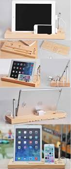 diy wood charging station unique bamboo wooden ipad smart phone cell phone charger charging station