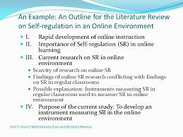 Sample Apa Literature Review Outline Things They Carried