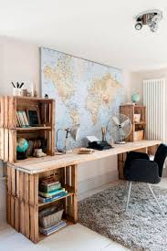 shipping pallet furniture ideas. World Traveler Wooden Work Desk Pallet Furniture Shipping Ideas