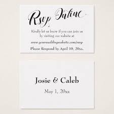Rsvp Template Online Wedding Rsvp Online Insert Black Script White 02 Zazzle