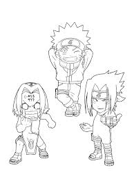 Naruto Coloring Pages 999gif 600800 Lineart Chibis