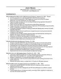 Human Resource Administration Sample Resume 21 Impressive Idea