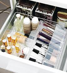 ... White Rectangle Modern Wooden Makeup Drawer Organizer With Bottle And  Powder Ideas: ...