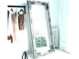 large framed floor mirrors kids rooms to go room organization curtains metal framed large silver