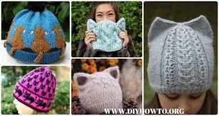 Knit Cat Hat Pattern Free