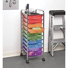 office rolling cart. Seville Classics 10-Drawer Organizer Cart, Translucent Multi-Color -  Walmart.com Office Rolling Cart