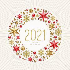 Illustration De Voeux De Nouvel An. Message De Nouvel An Dans Un Cadre  Fabriqué à Partir De Décor De Vacances.   Vecteur Premium