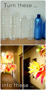 this eye popping chandelier is created entirely from plastic water bottles visit oh happy day for the completely tutorial