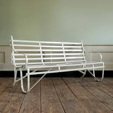 wrought iron garden furniture antique. a riveted wrought iron garden bench furniture antique